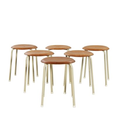 Set of 6 Stools, 1950's