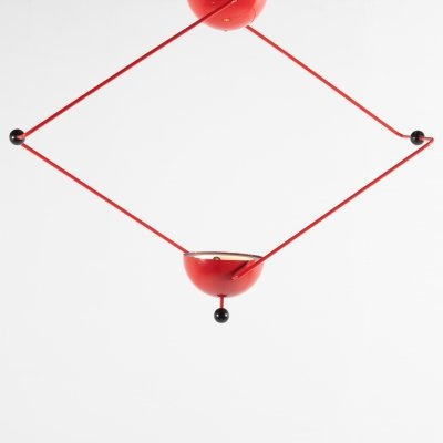 Italian Modern Architectural ceiling lamp, 1970's