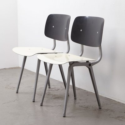 Rare Pair of TH Delft Revolt Chairs by Friso Kramer for Ahrend de Cirkel, 1953