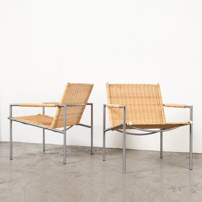 Martin Visser Pair of SZ01 Lounge Chairs for 't Spectrum, 1960