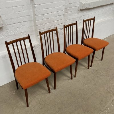 Set of 4 Dining chairs by Interier Praha, 1960s