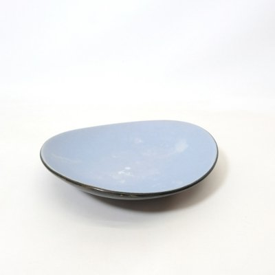 Black & blue ceramic dish, Germany 1950s