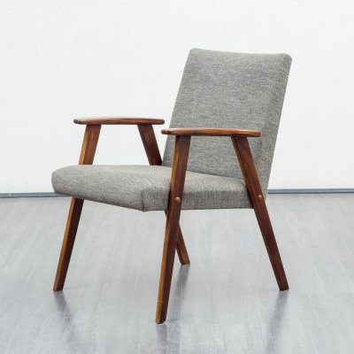 Mid-Century 1950s solid wooden chair in grey