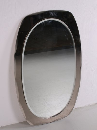 Italian large facet cut mirror, 1960s