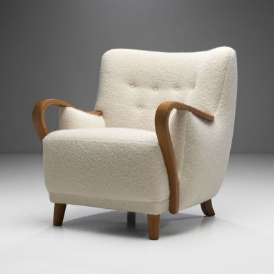 Oak Danish Cabinetmaker Easy Chair, Denmark ca 1950s