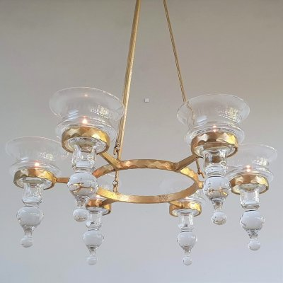 Bertil Vallien 'Rondo' Chandelier for Boda Smide Sweden