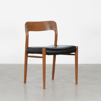 Model 75 dining chair by Niels O. Møller for JL Møllers Møbelfabrik, 1960s
