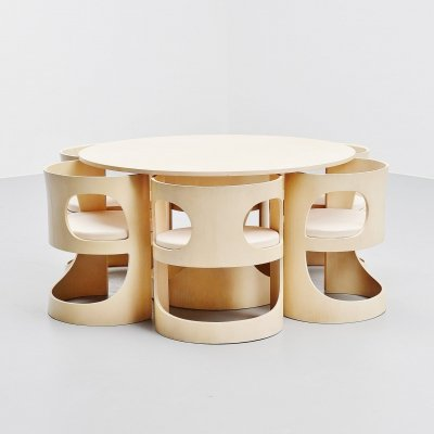 Arne Jacobsen Pre Pop dining set for Asko Finland, 1969