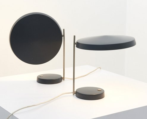 Pair of 'Oslo' desk lamps by Heinz Pfaender for Hillebrand, 1960s