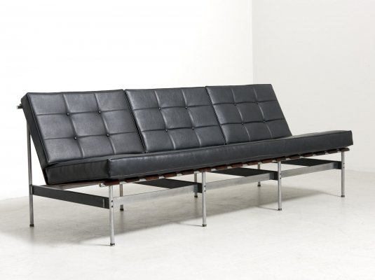 Leather Sofa by Kho Liang Ie for Artifort, Netherlands 1950's