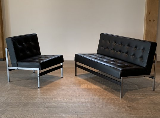 Model 020 lounge chair & sofa by Kho Liang Ie for Artifort, 1950s