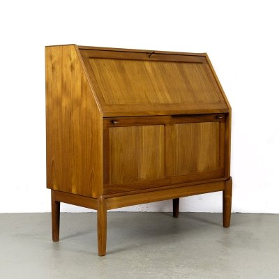 Teak Secretary Desk by H. W. Klein for Bramin, 1960s