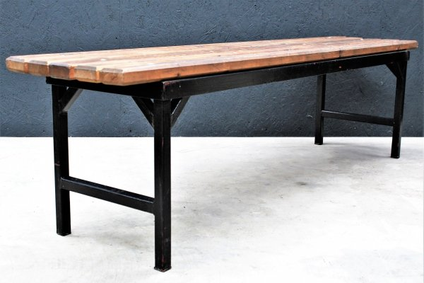 Old Industrial dressing room Bench, 1960s