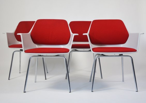 Wilkhahn model 240-5 Space Age chairs by Georg Leowald