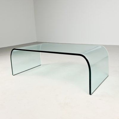 Waterfall coffee table by Angelo Cortesi for Fiam Italy