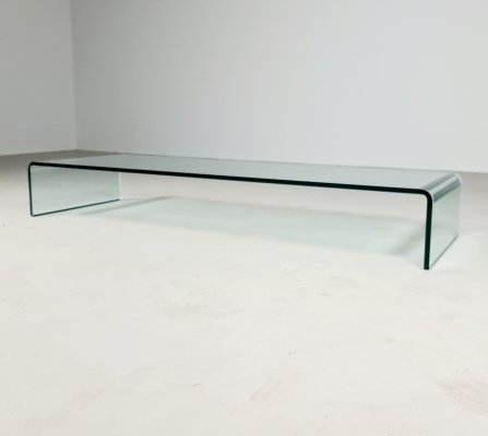 Low coffee table by Angelo Cortesi for Fiam Italy, 1980s