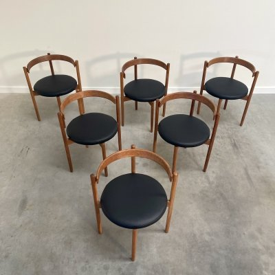 Hugo Frandsen dining chairs for Børge M Søndergaard, Denmark 1960s