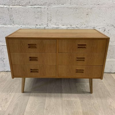 Scandinavian Oak Chest of Drawers by Emil Clausen, 1960s