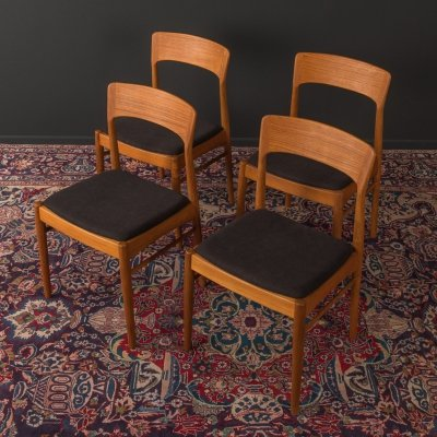 Set of 4 dining chairs by K. S. Møbler, 1960s