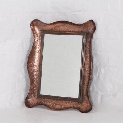 Hammered copper & brass mirror, 1930s
