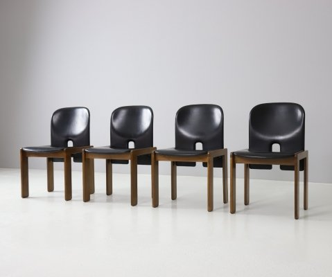Set of 4 model 121 chairs by Afra & Tobia Scarpa for Cassina, 1965