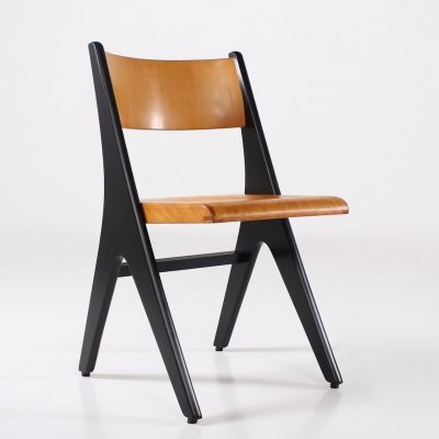 Black lacquered beech 'Penguin' chair by Carl Sasse for Casala, 1960's