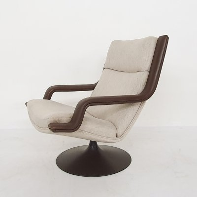 Geoffrey Harcourt for Artifort F140 swivel lounge chair, The Netherlands 1960's