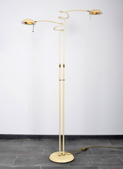 Very rare Herda floorlamp with adjustable arms & dimmable halogen spots, 1980s