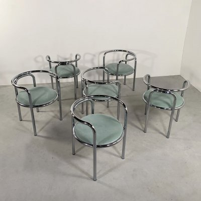 Set of 6 Locus Solus Chairs by Gae Aulenti for Poltronova, 1960s