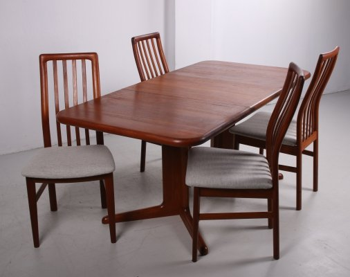 Danish Design Korup Stolefabrik Dining set with 4 chairs, 1960s
