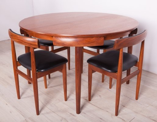 Mid-Century Teak Dining Table & Chairs by H.Olsen for Frem Røjle, 1960s