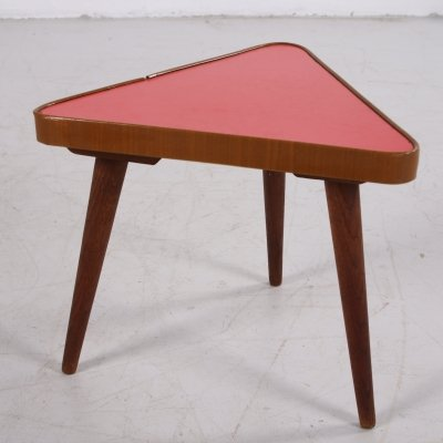 Vintage plant table in red, 1960s