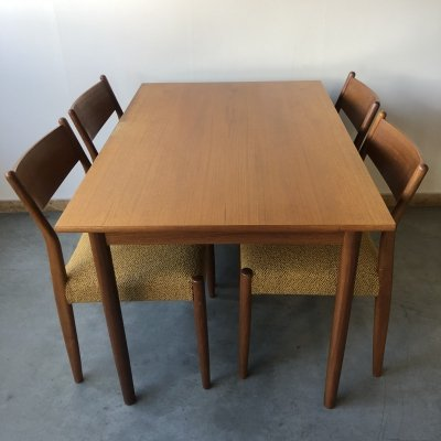 Fristho Dining set with table & 4 chairs, 1960s