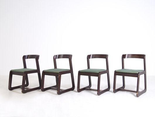 Set of 4 dining chairs by Willy Rizzo for Mario Sabot, 1970s