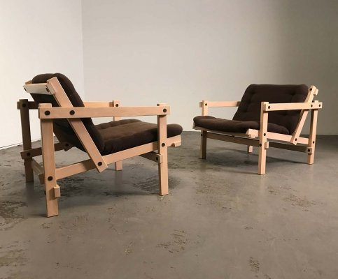 2 rare completely original 'Cleon' chairs by Martin Visser, 1974