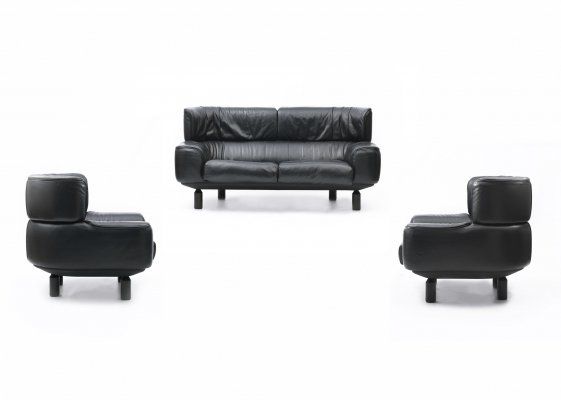 Bull seating set by Gianfranco Frattini for Cassina, 1987