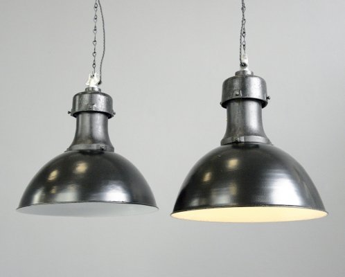 Typ 2 Industrial Factory Lights by Rech, Circa 1920s