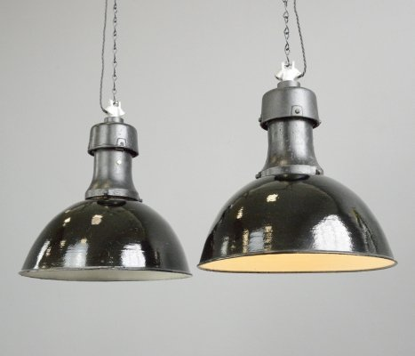 Typ 3 Industrial Factory Lights by Rech, Circa 1920s