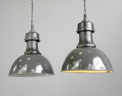 Typ 4 Industrial Factory Lights by Rech, Circa 1920s