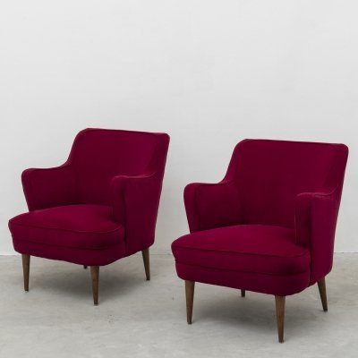 Pair of armchairs by Gustavo Pulitzer Finali for Cassina, 1950s