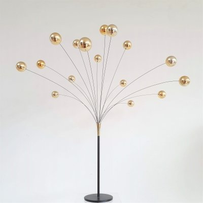 Scandia Denmark design gold Kinetic Ball sculpture