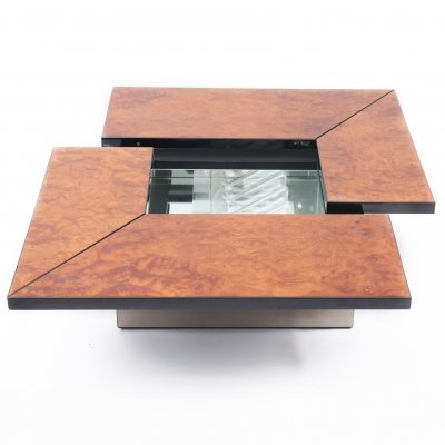 Hidden bar coffee table by Paul Michel, 1970s