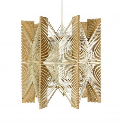 Geometric pendant in wire & wood, 1960s
