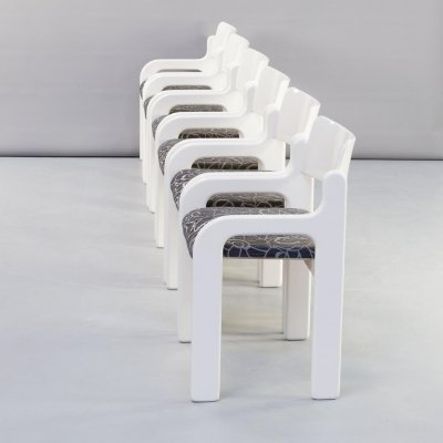 Set of 6 Eero Aarnio 'flamingo' dining chairs for Asko, 1970s