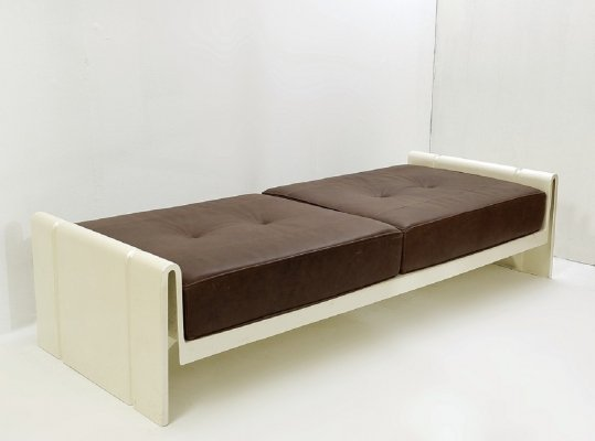 Leather And Fiberglass Daybed by Rodolfo Bonetto, Italy 1969