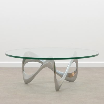 'Snake' coffee table by Knut Hesterberg for Ronald Schmitt