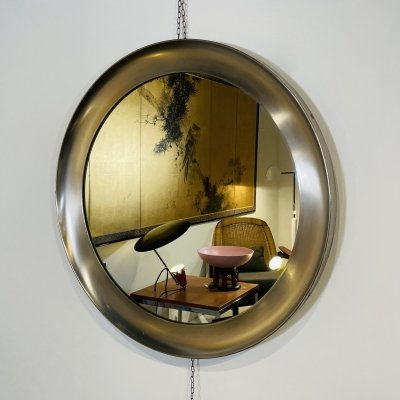 Big Size 'Narciso' Mirror by Sergio Mazza for Artemide, Italy 1960's