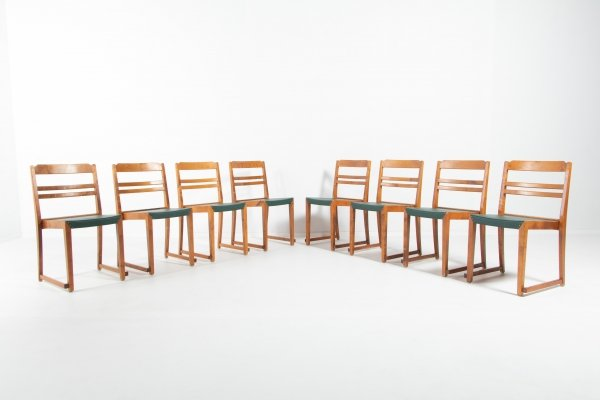 Set of 8 Sven Markelius 'Orchestra' chairs, Sweden 1930's