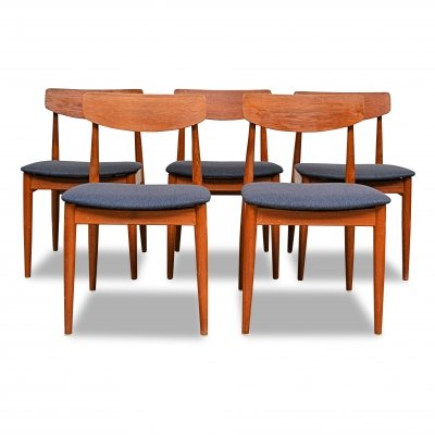 Set of 5 Vintage Casala teak dining chairs, 1960s
