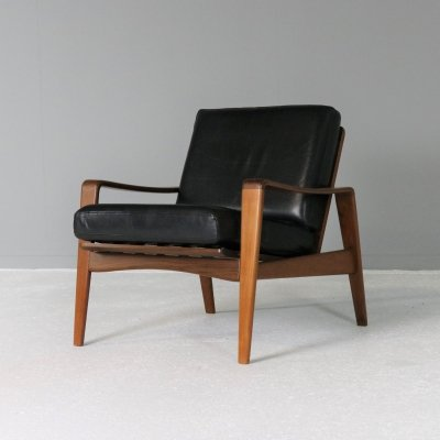 Teak Lounge Chair by Arne Wahl Iversen for Komfort, Denmark 1950s